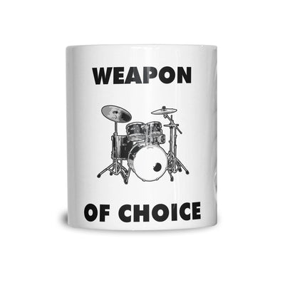 Novelty Music Mug Weapon of Choice Drums Coffee Tea Cup