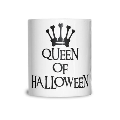 Novelty Spooky Mug Queen Of Halloween Crown Coffee Tea Cup