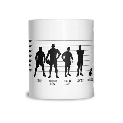 Novelty Sports Mug Rugby Vs Football Baby Lineup Coffee Tea Cup