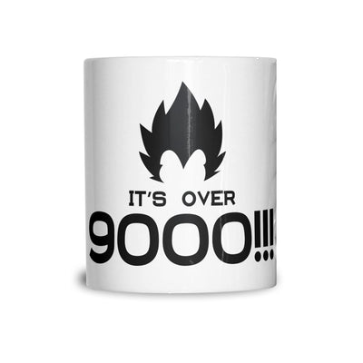 Novelty Anime Parody Mug It's Over 9000!! Slogan Coffee Tea Cup