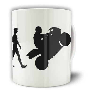 Biker Mug Evolution of a Motorbike Rider Coffee Tea Cup