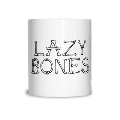 Novelty Halloween Mug Lazy Bones Joke Slogan Coffee Tea Cup