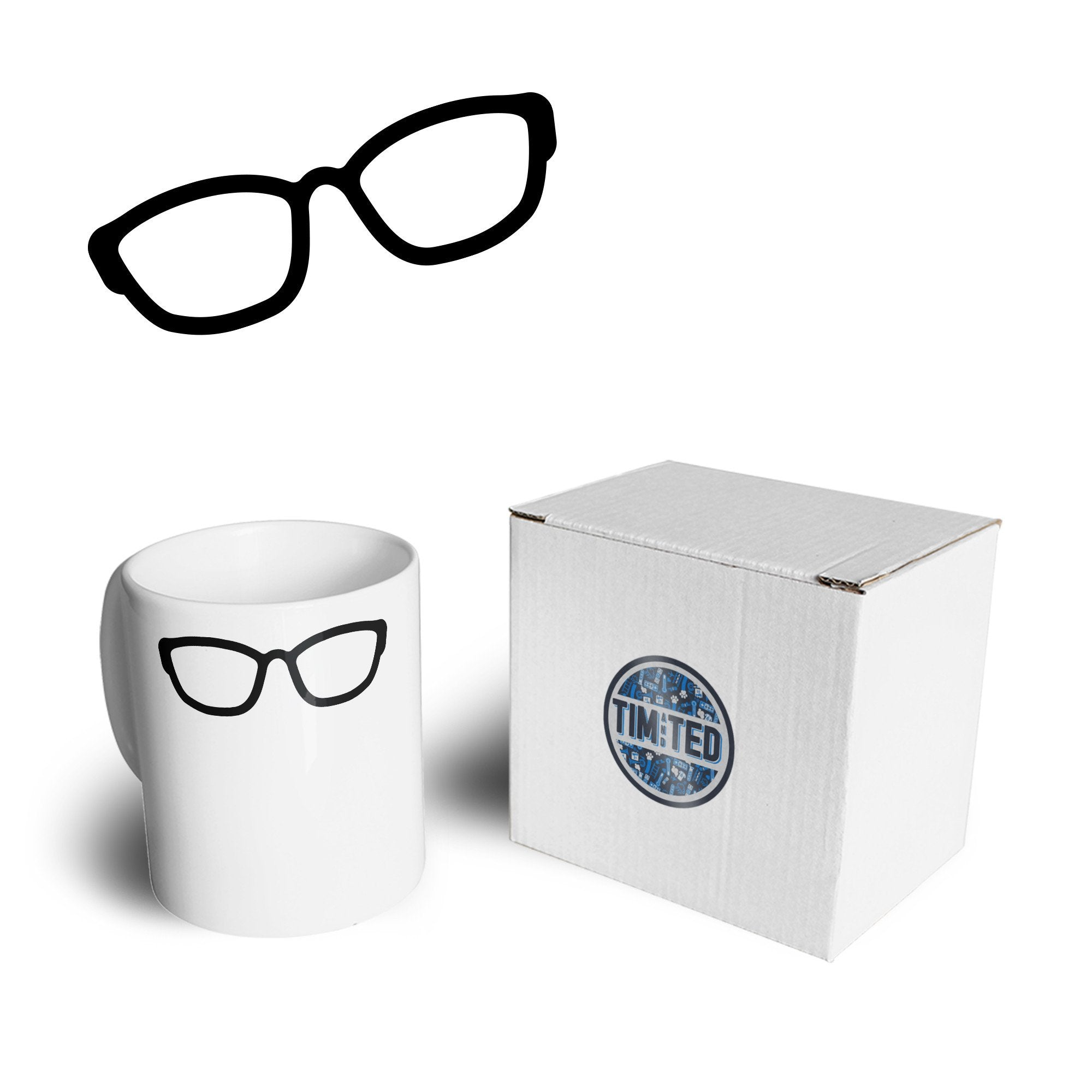 Novelty Hipster Mug Simple Glasses Design Coffee Tea Cup