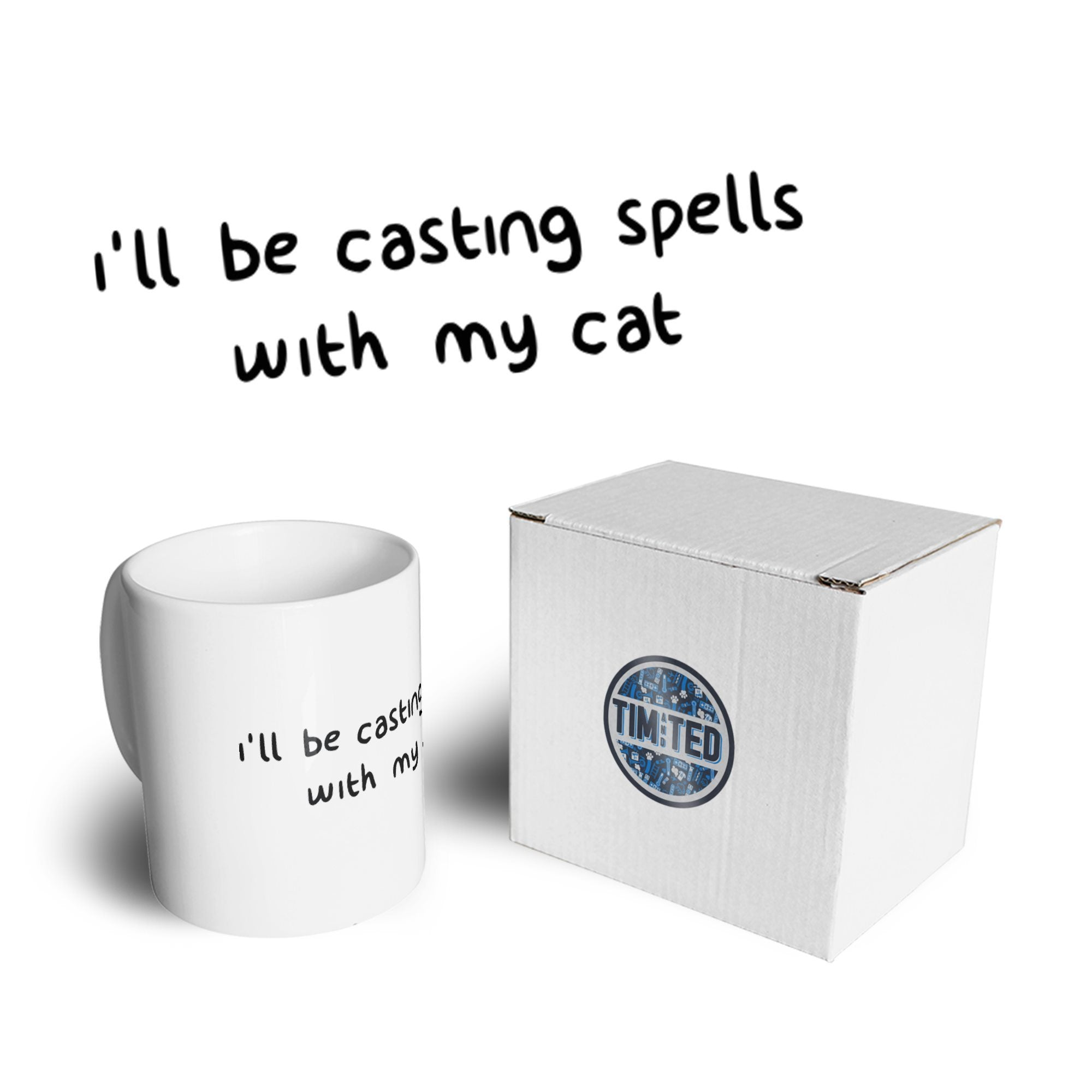 Halloween Mug I'll Be Casting Spells With My Cat Coffee Tea Cup
