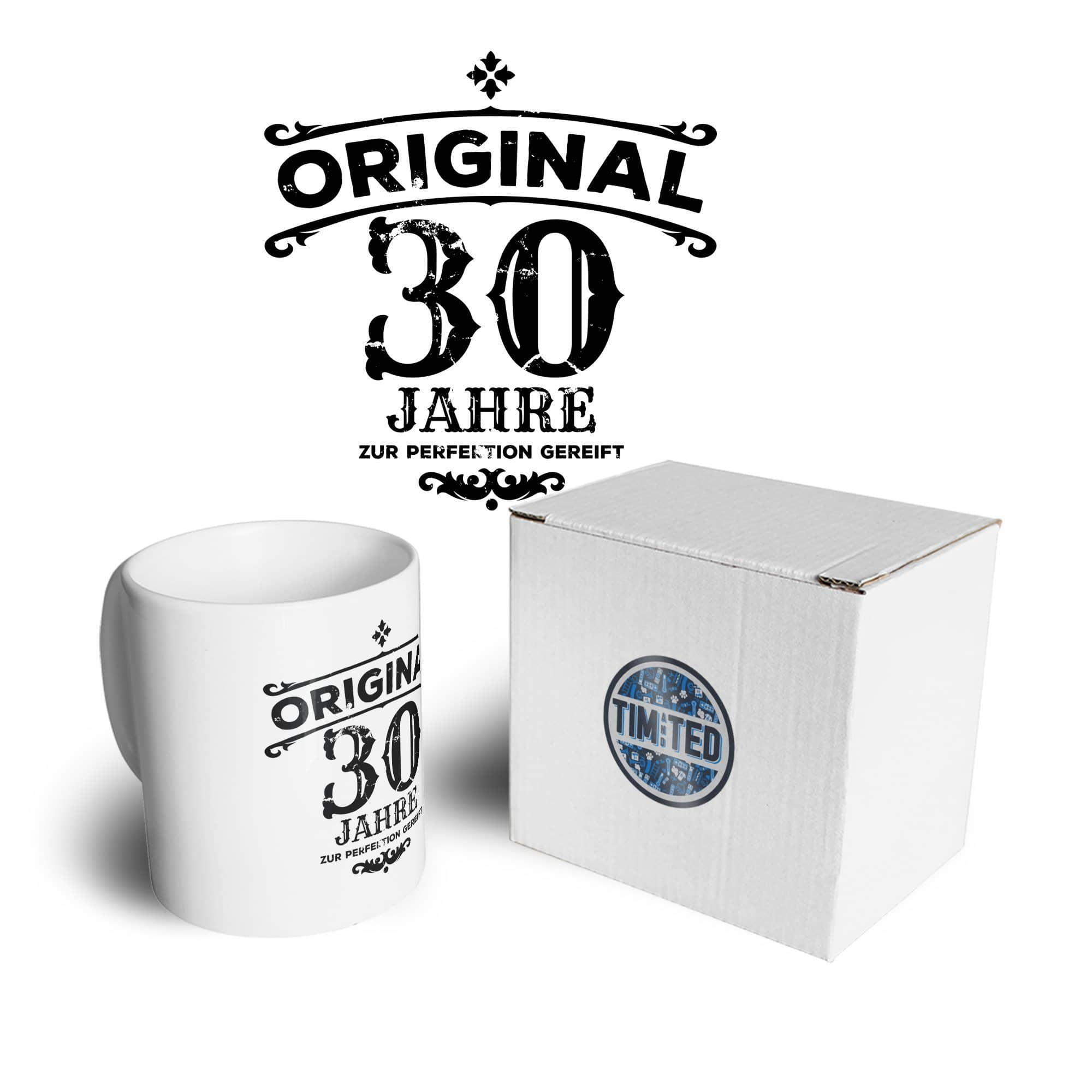 30th Birthday Mug Original Aged 30 Thirty Years Coffee Tea Cup