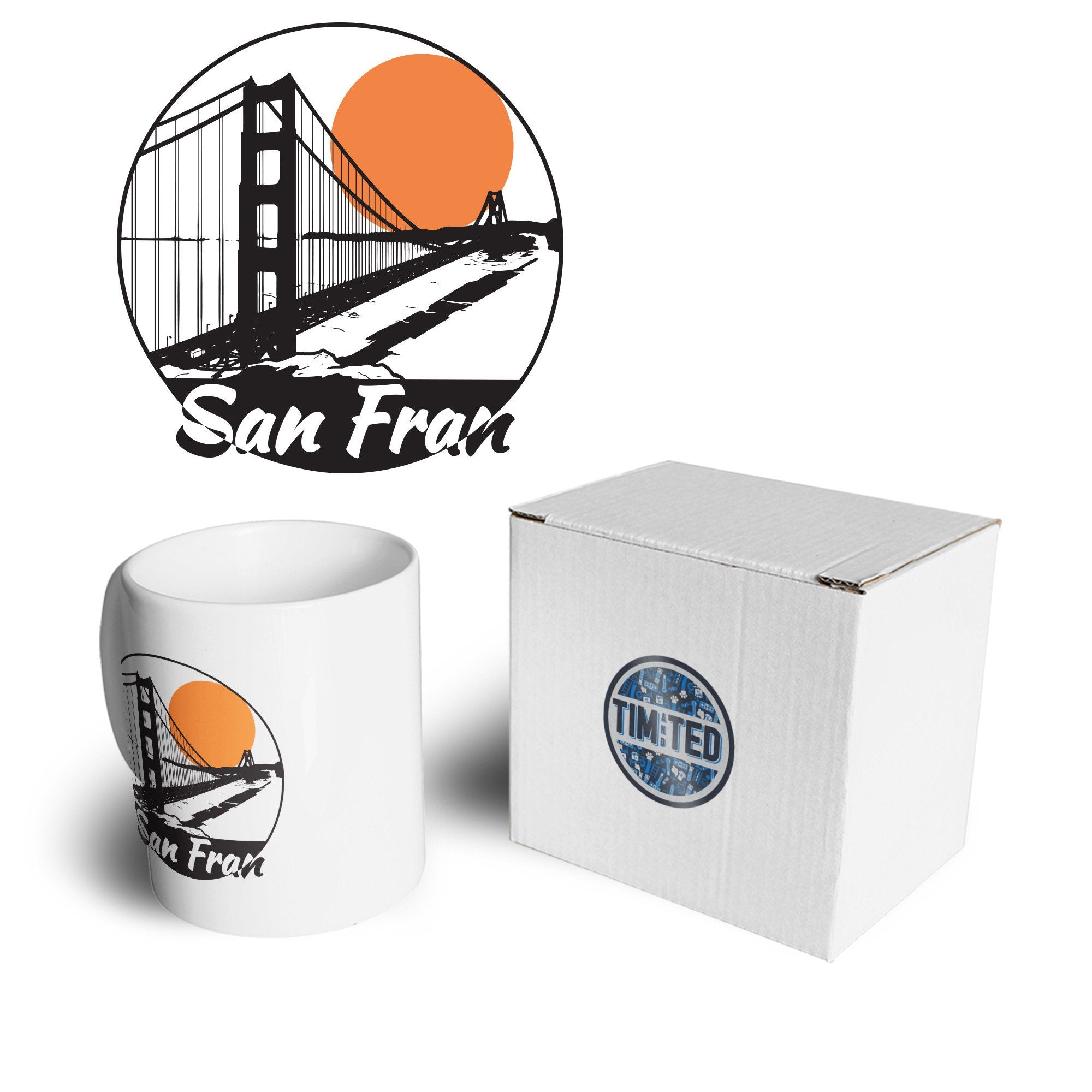 San Francisco Art Mug Golden Gate Bridge Landscape Coffee Tea Cup