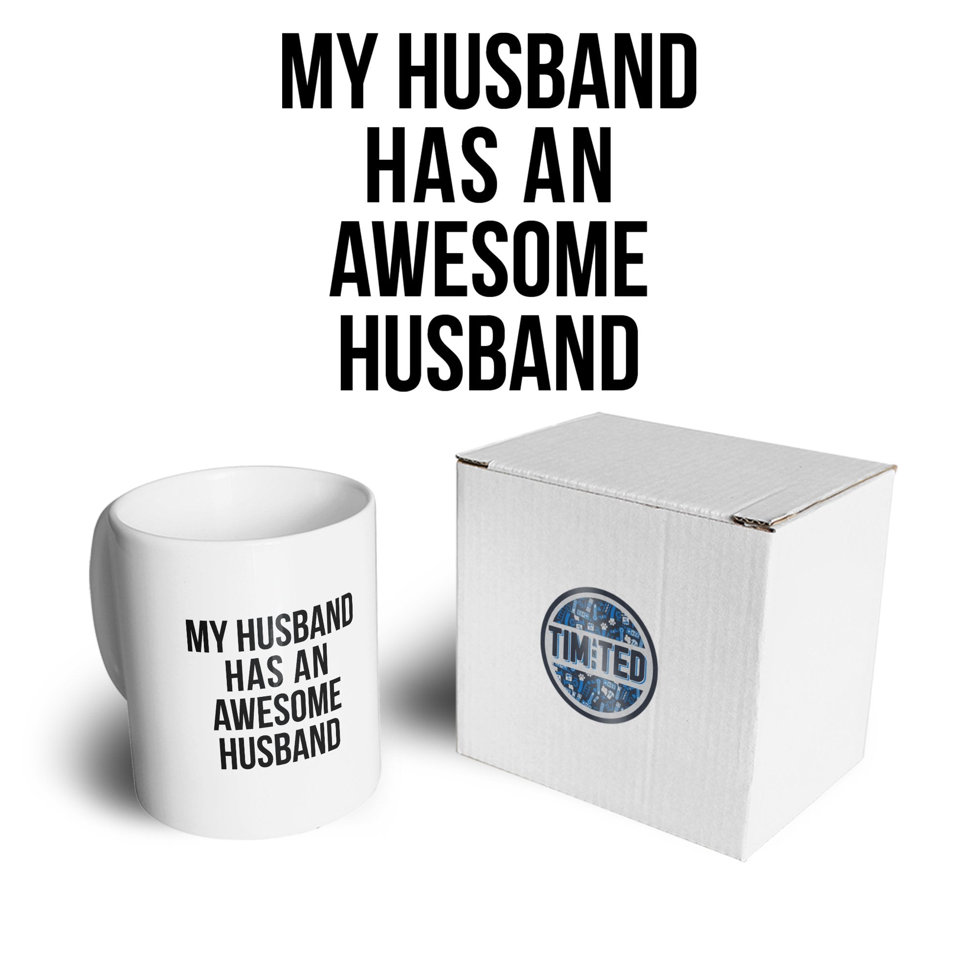 Joke Couples Mug My Husband Has An Awesome Husband Coffee Tea Cup