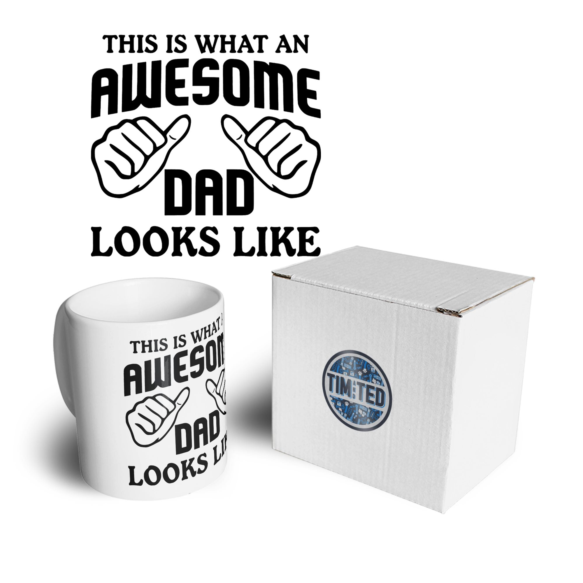 What An Awesome Dad Looks Like Mug Coffee Tea Cup