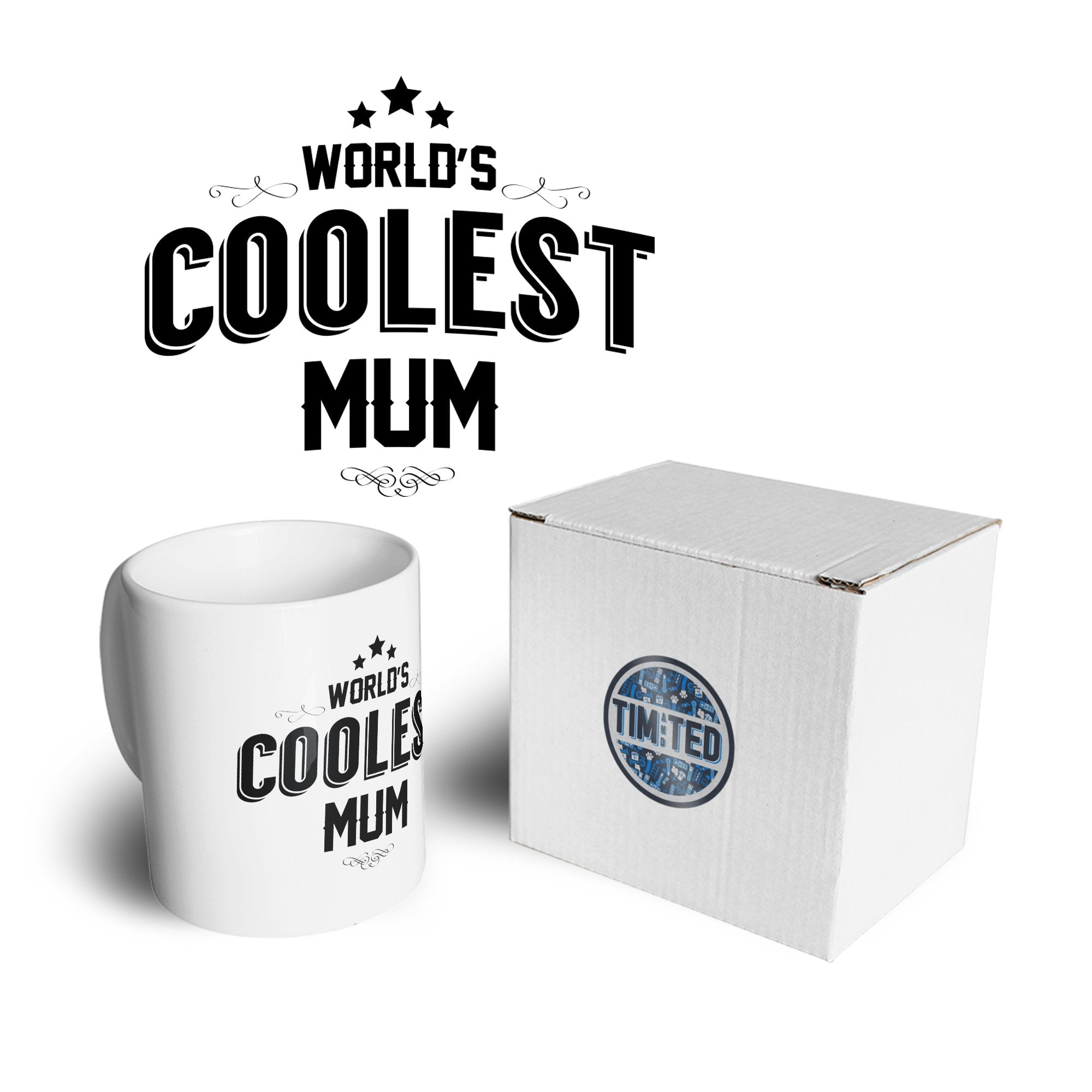 Novelty Mug Worlds Coolest Mum Slogan Coffee Tea Cup