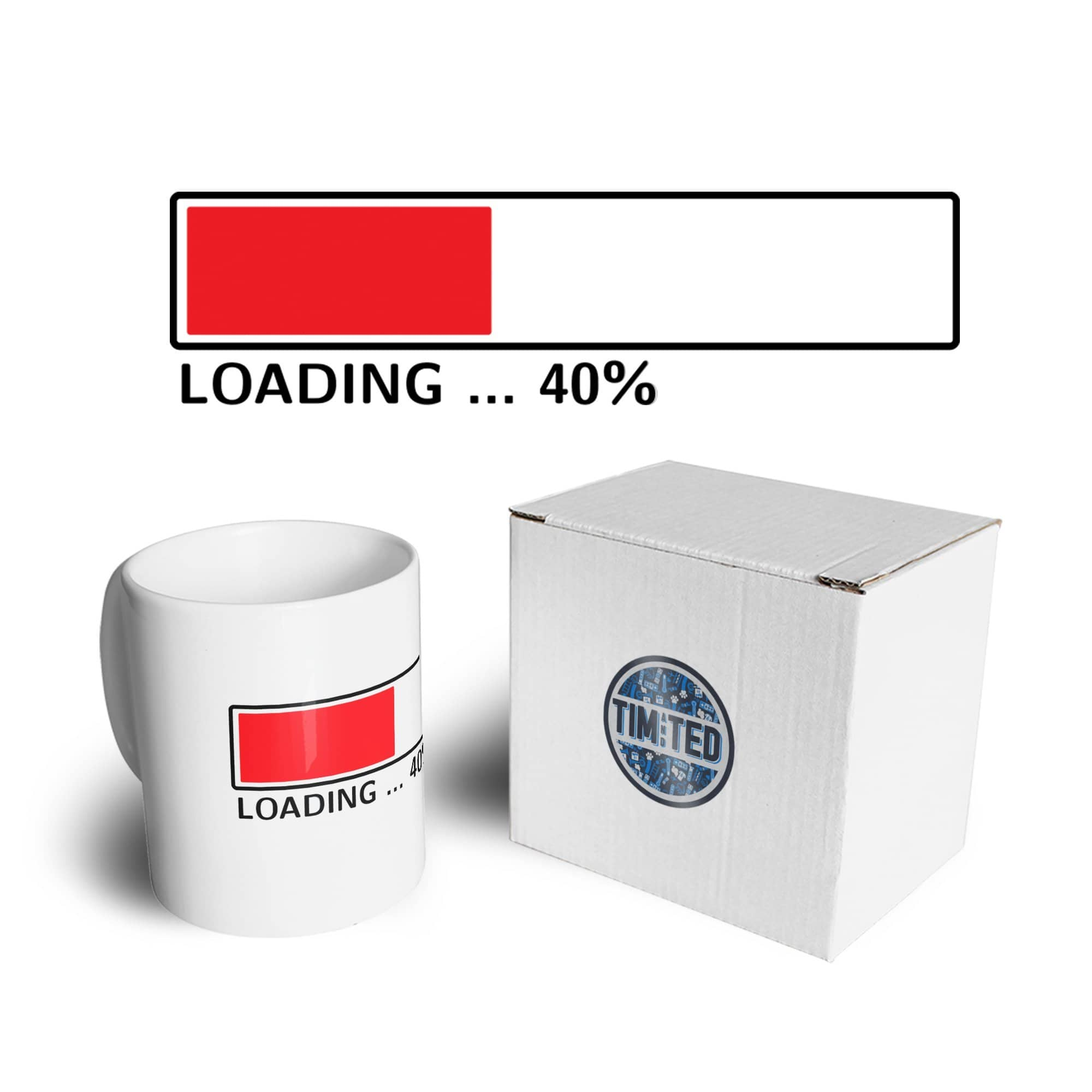 40th Birthday Mug Loading 40% Complete Forty Coffee Tea Cup