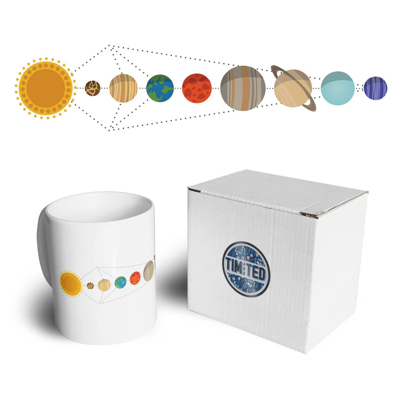 Cool Nerdy Tea Cup Mug Geometric Solar System Space Art