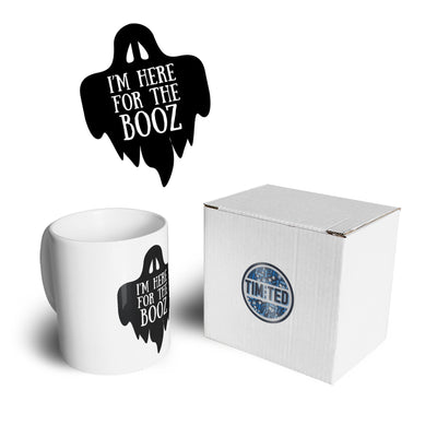 Novelty Halloween Mug I'm Here For The Booz Joke Coffee Tea Cup