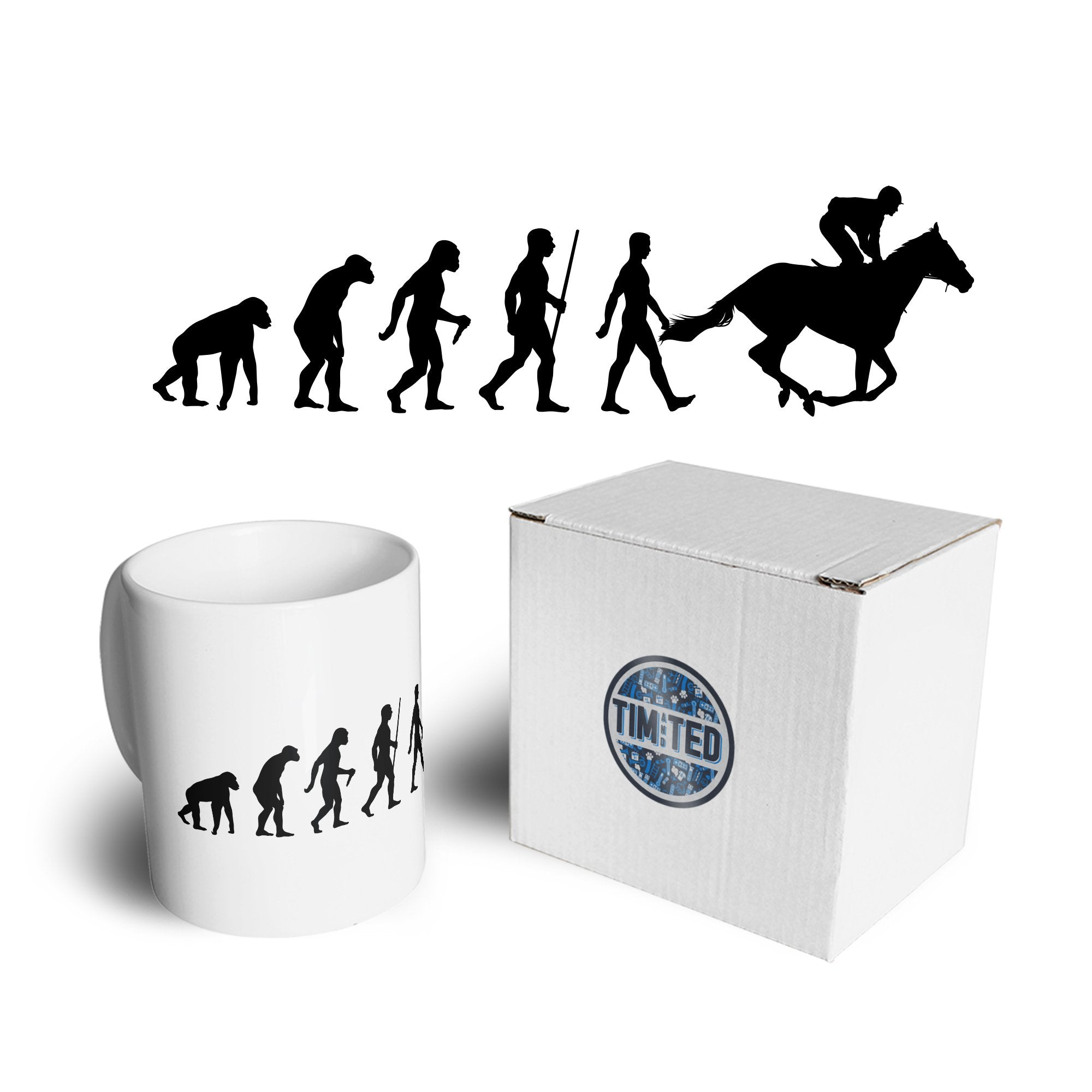 Sport Mug Evolution Of Horse Riding Equestrian Coffee Tea Cup