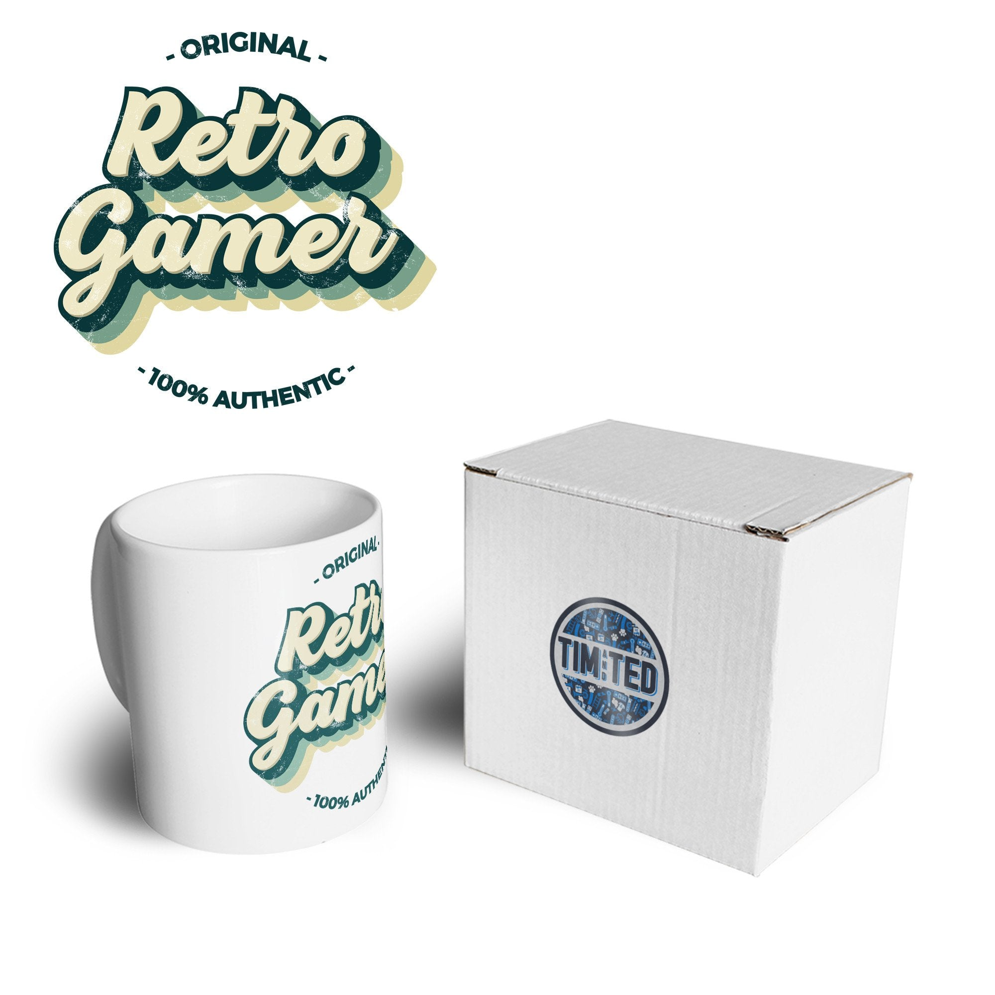 Novelty Mug Original Retro Gamer, 100% Authentic Coffee Tea Cup