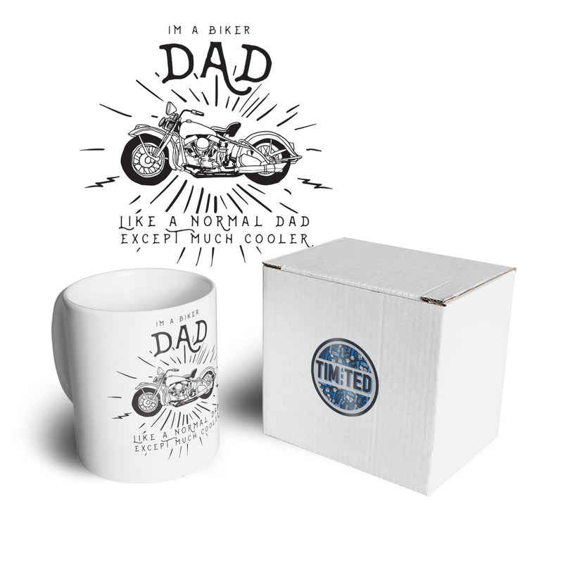 Motorcycle Tea Cup Mug I'm A Biker Dad Slogan