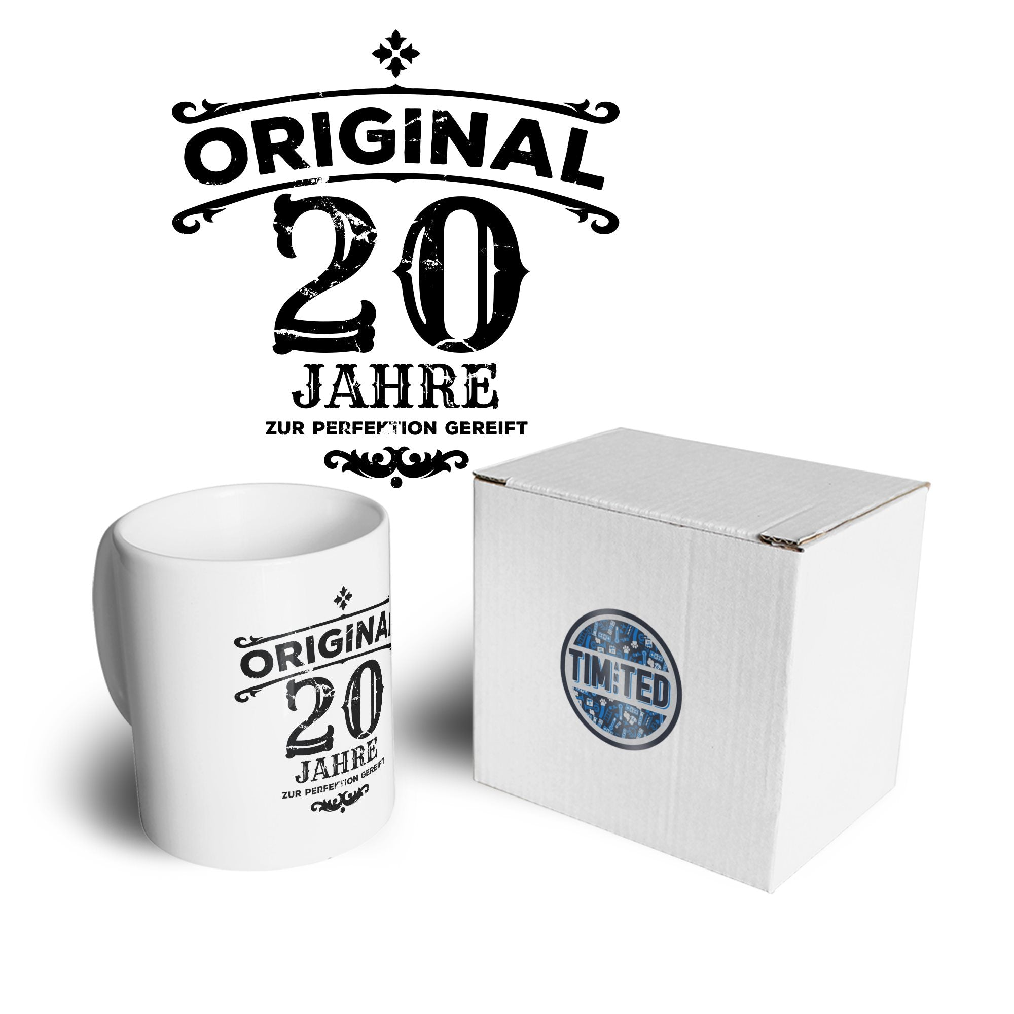 20th Birthday Mug Original Aged 20 Twenty Years Coffee Tea Cup