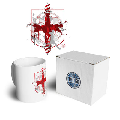 World Cup Mug England Flag Football Crest Of Arms Coffee Tea Cup