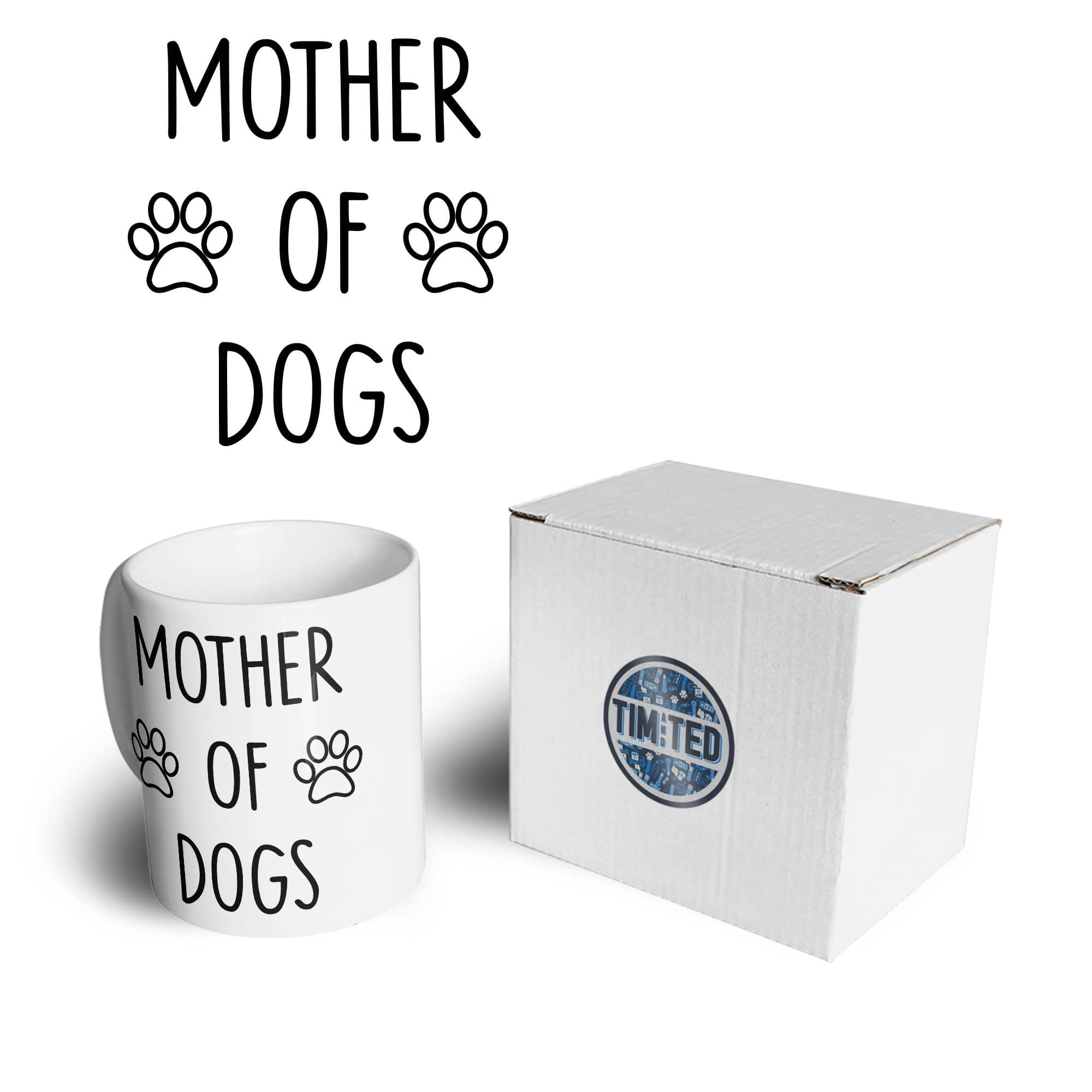 Novelty Pet Mug Mother Of Dogs Slogan Coffee Tea Cup