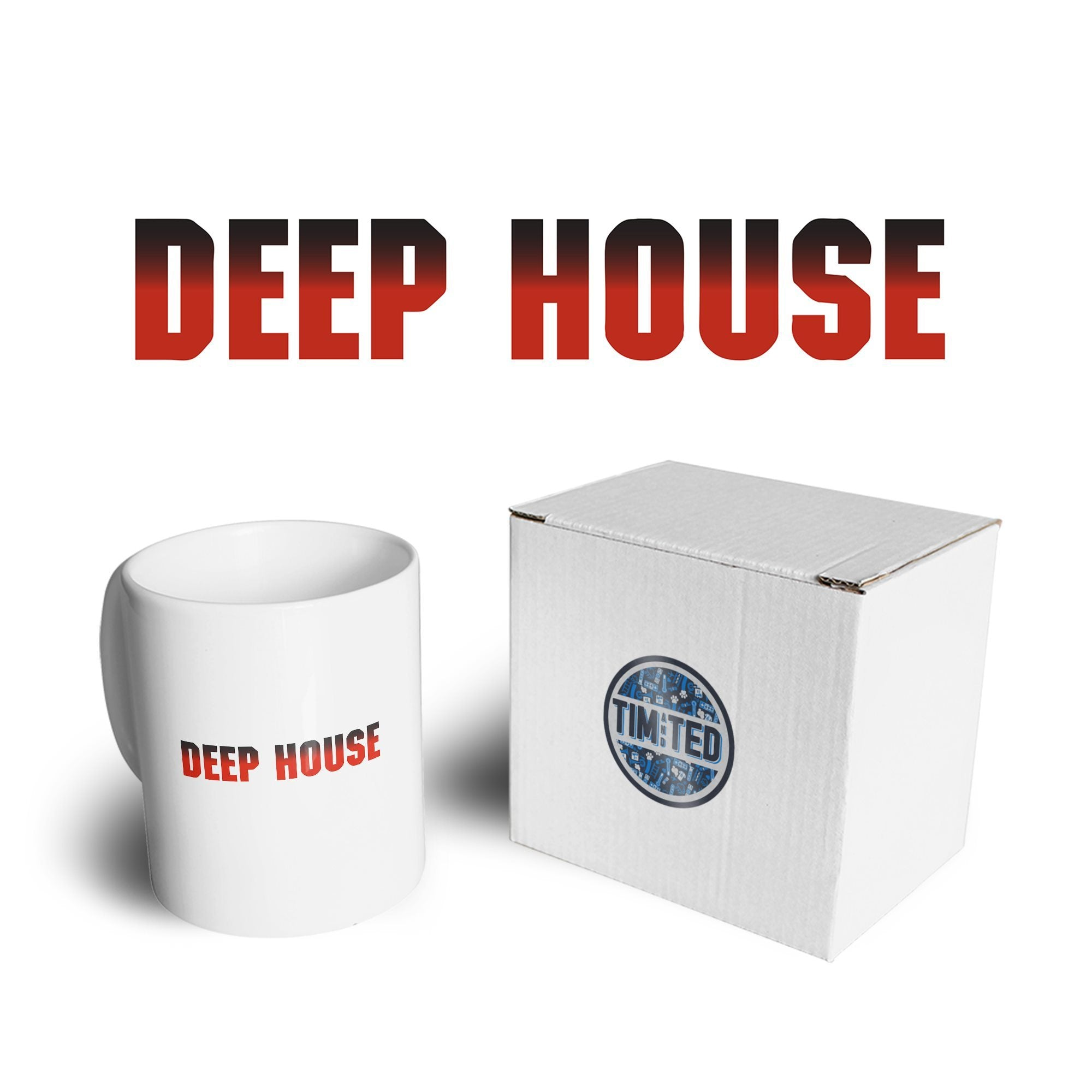 Music Genre Mug Deep House Parody Logo Coffee Tea Cup