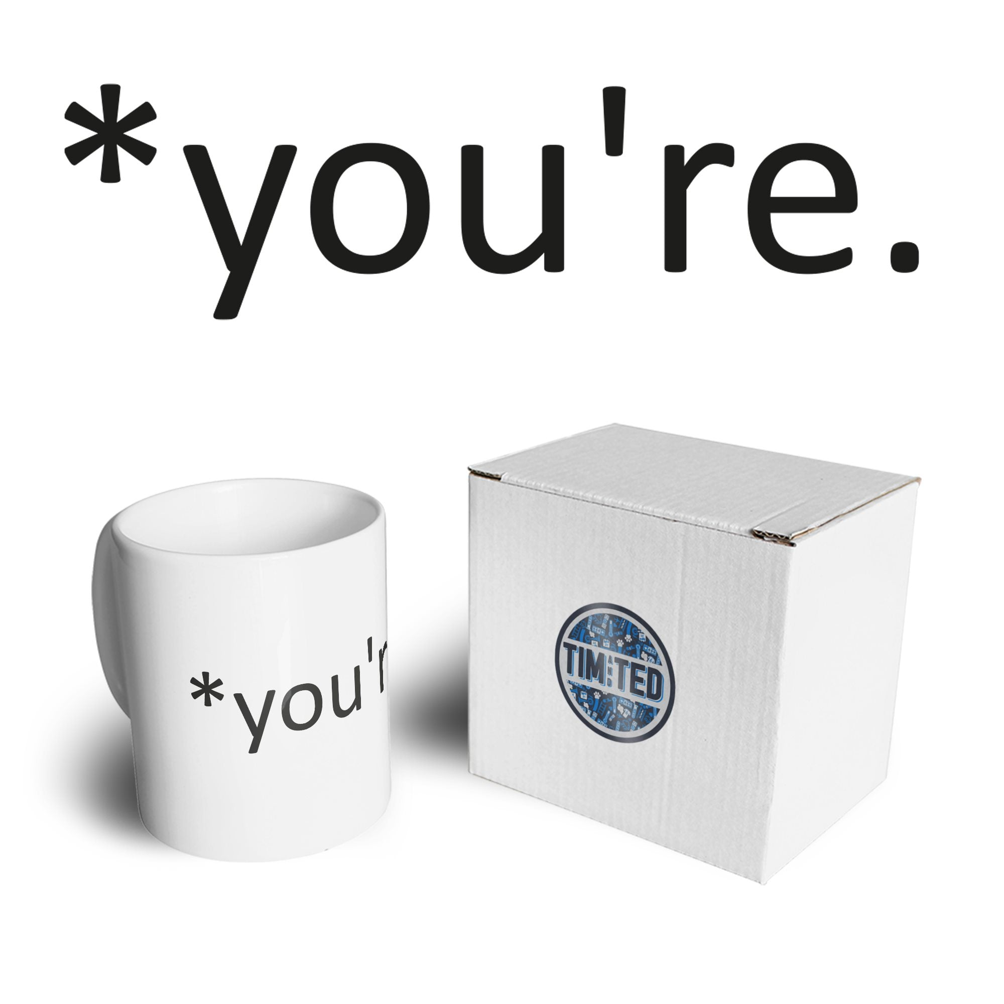 Correction of the Proper 'You're' Funny Mug Joke Coffee Tea Cup