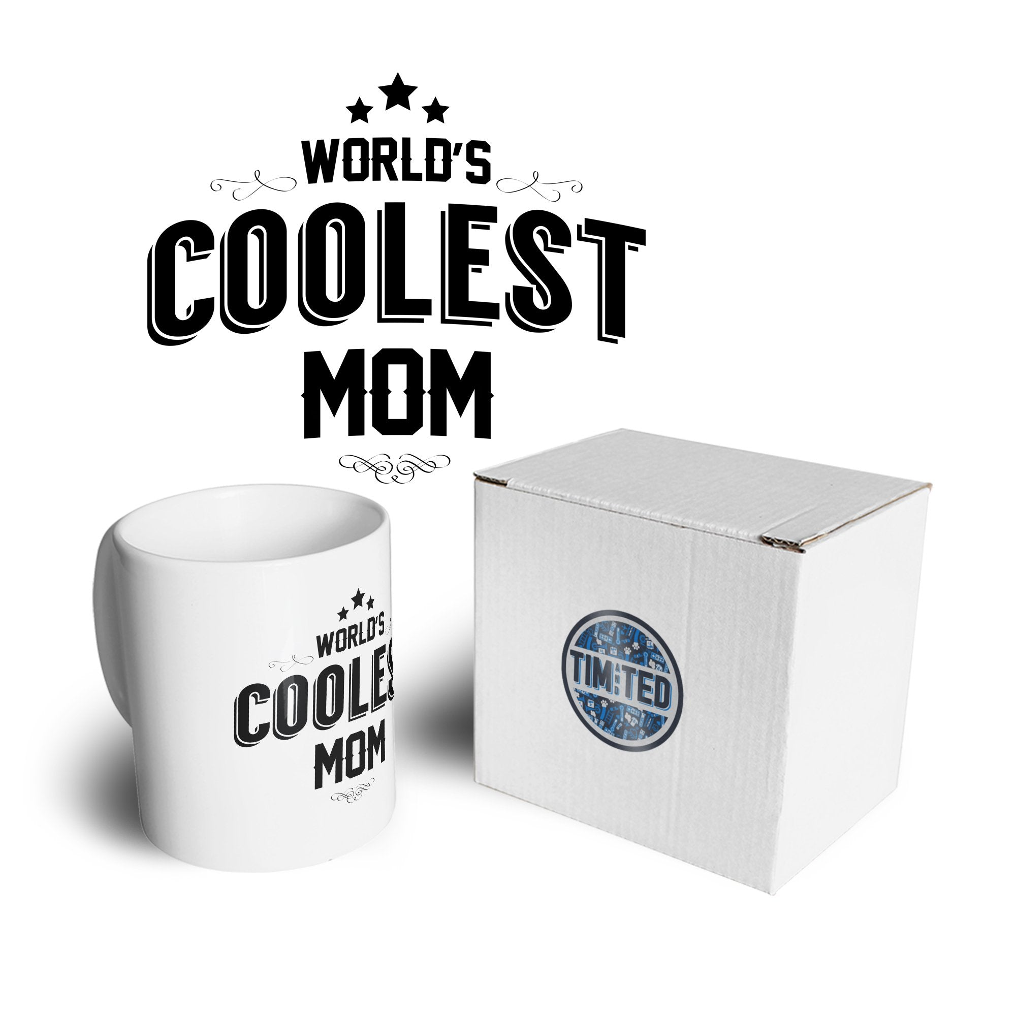 Novelty Mug Worlds Coolest Mom Slogan Coffee Tea Cup