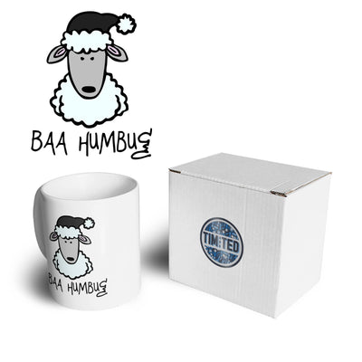 Joke Christmas Mug Baa Humbug Sheep Pun Coffee Tea Cup
