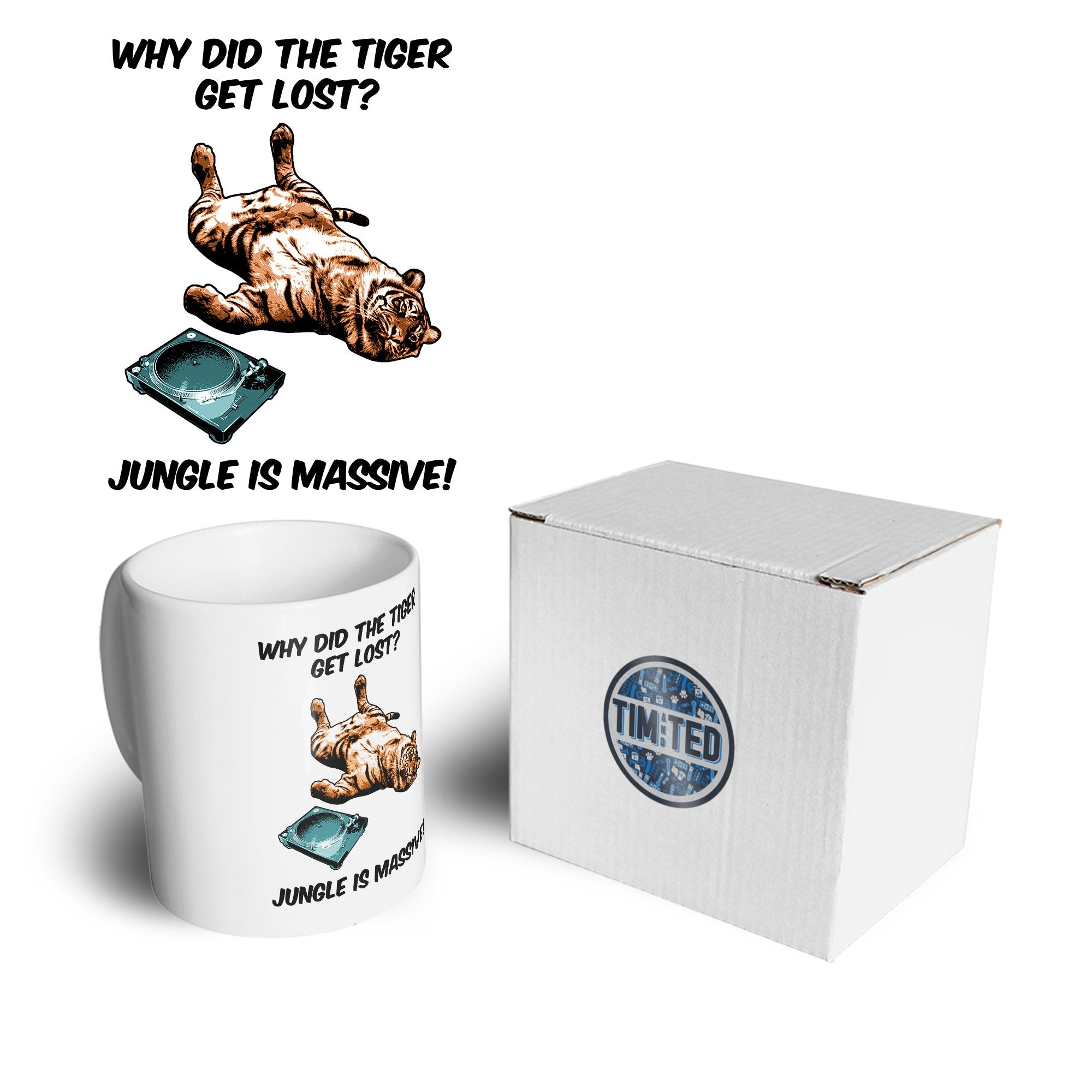 Music Genre Mug Why Did The Tiger Get Lost Joke Coffee Tea Cup