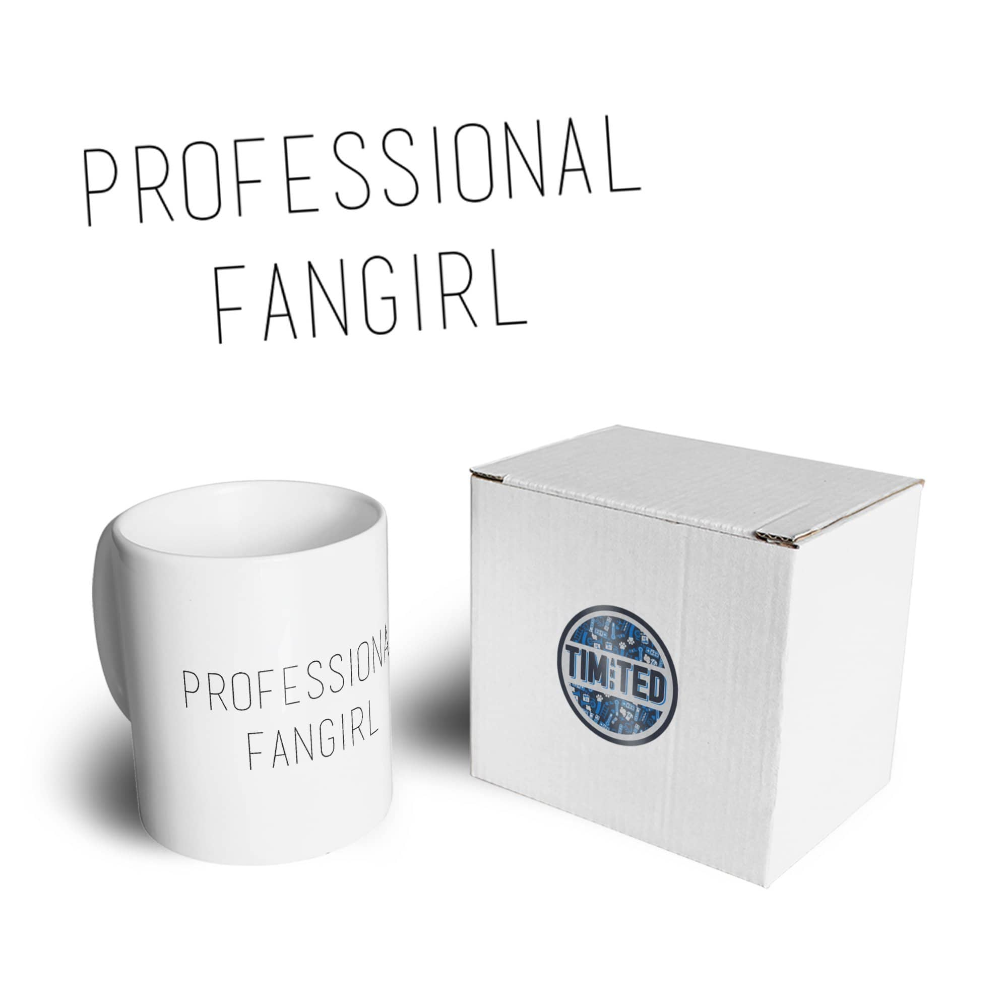 Novelty Joke Slogan Mug Professional Fangirl Coffee Tea Cup