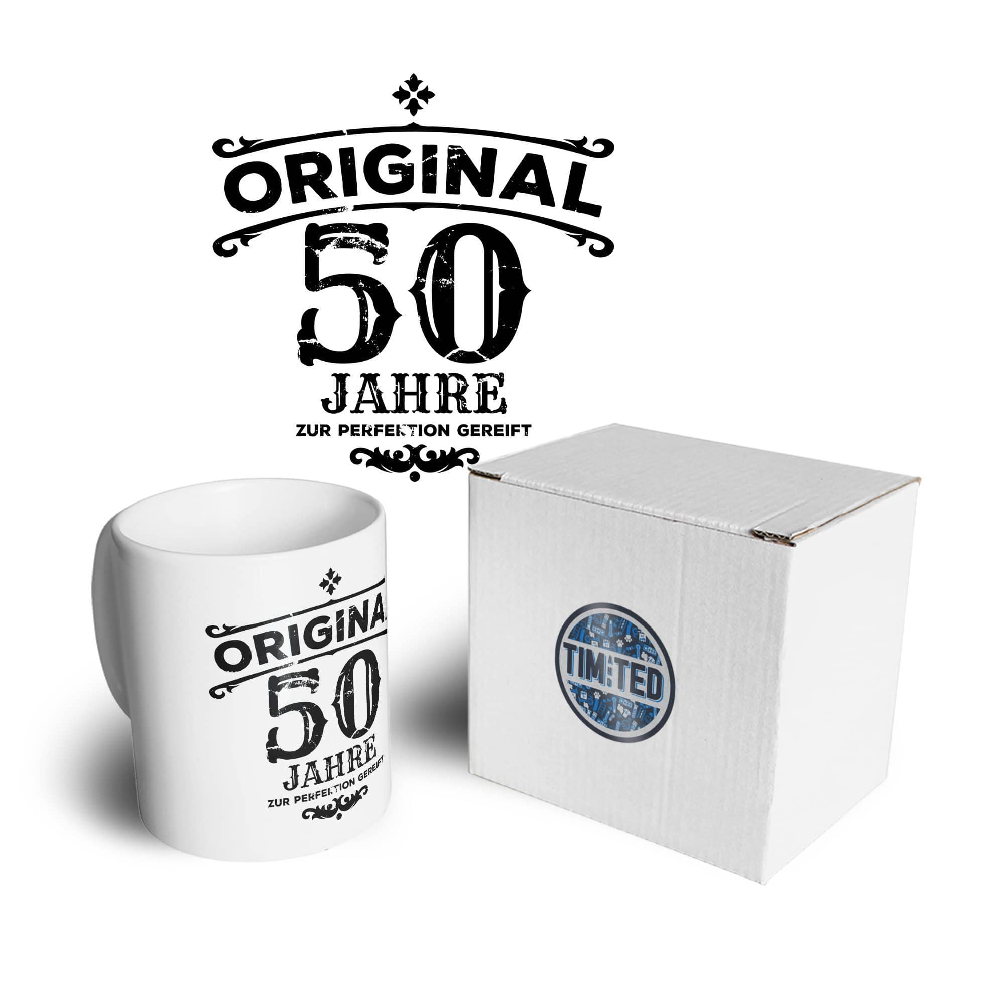 50th Birthday Mug Original Aged 50 Fifty Years Coffee Tea Cup