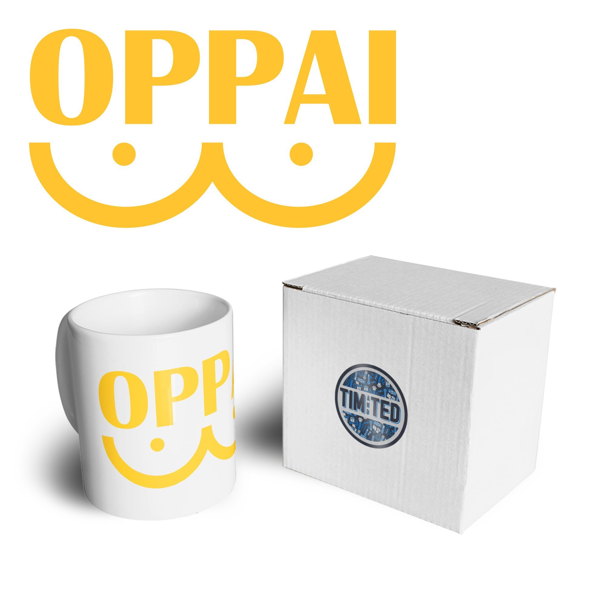 Novelty Anime Parody Tea Cup Mug Oppai Logo