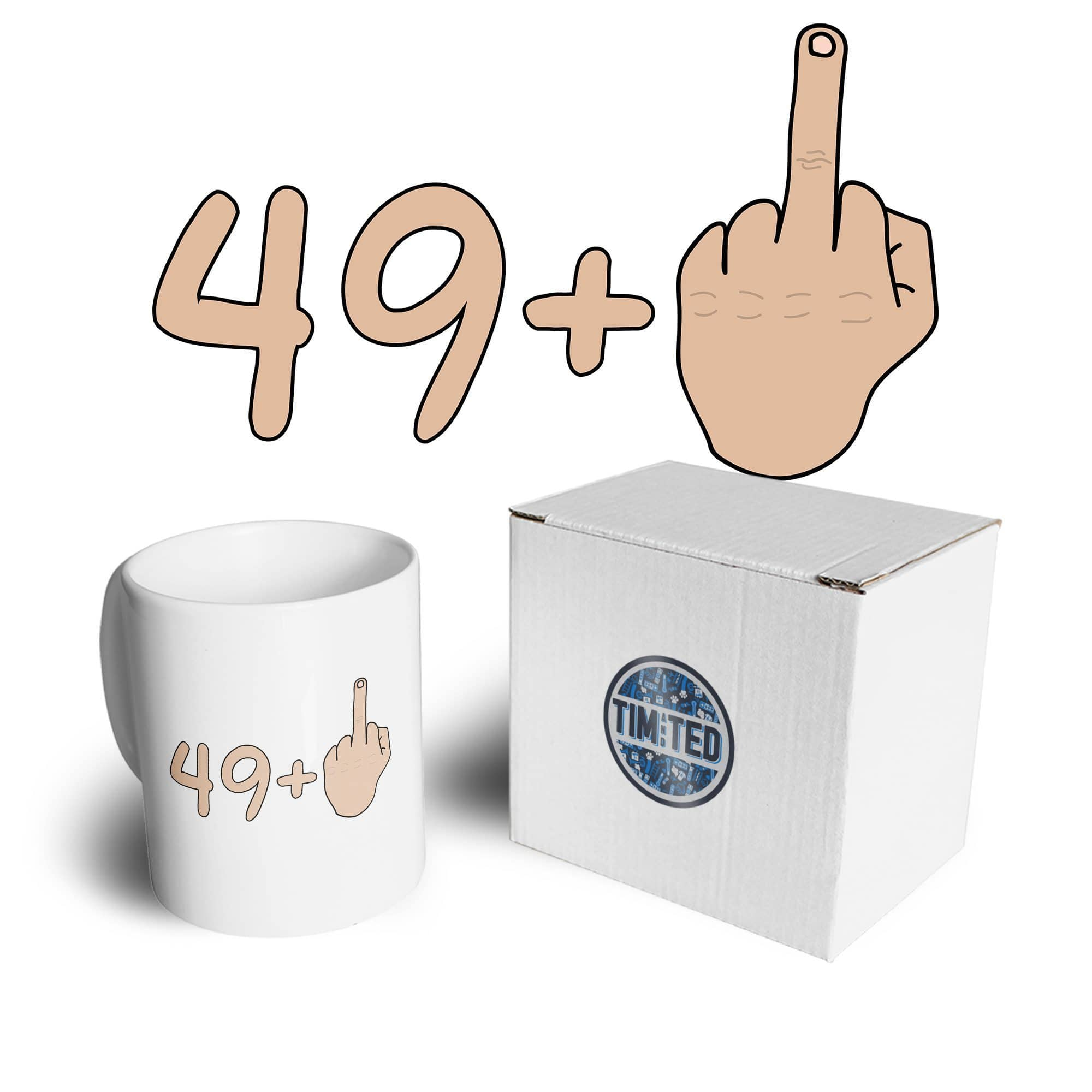 50th Birthday Mug 49 plus 1 gesture Coffee Tea Cup