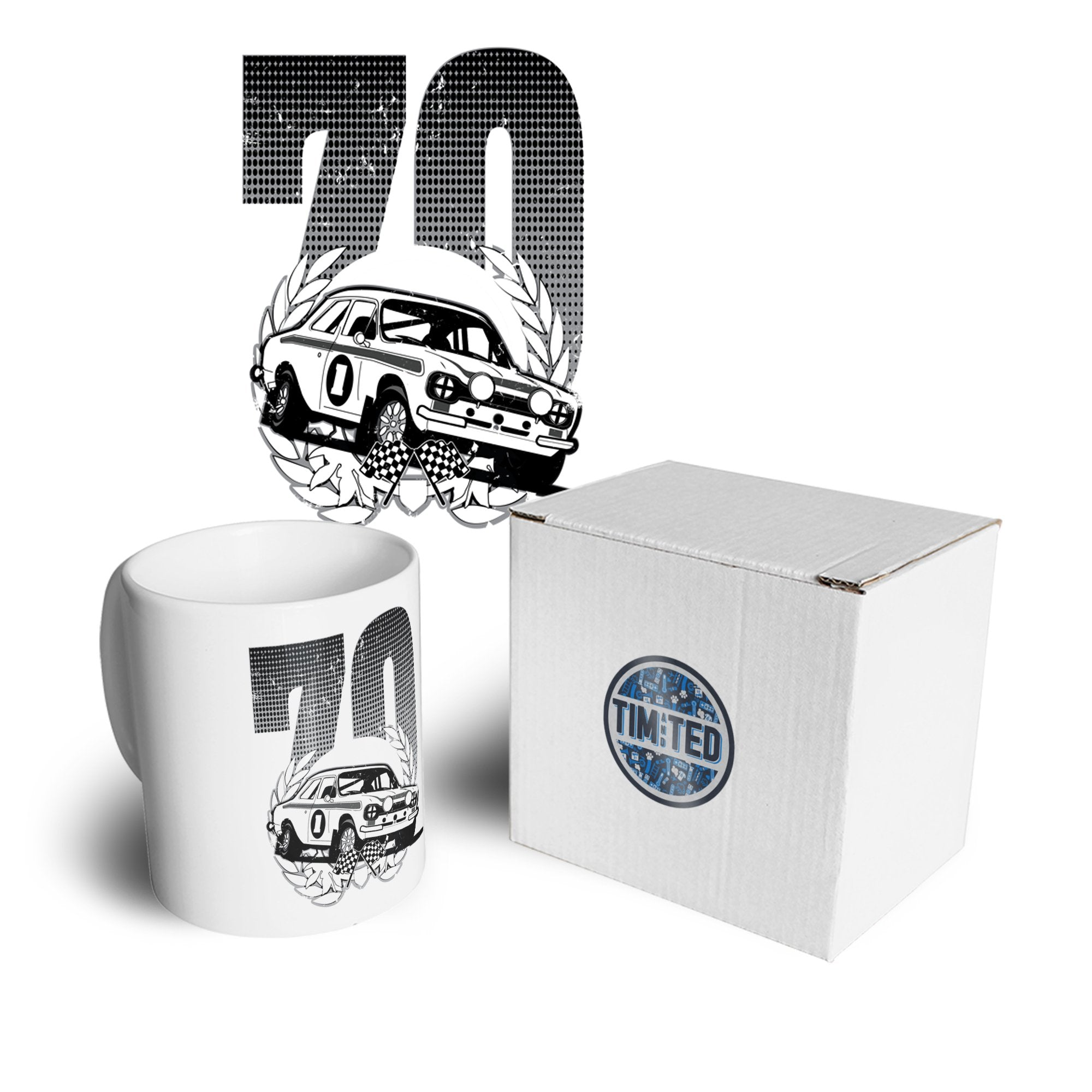 Racing Mug Classic Rally Car Retro 70 Coffee Tea Cup