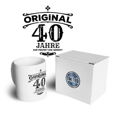 40th Birthday Mug Original Aged Forty 40 Years Coffee Tea Cup