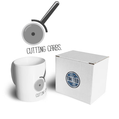 Novelty Food Mug Cutting Carbs Pizza Cutter Joke Coffee Tea Cup