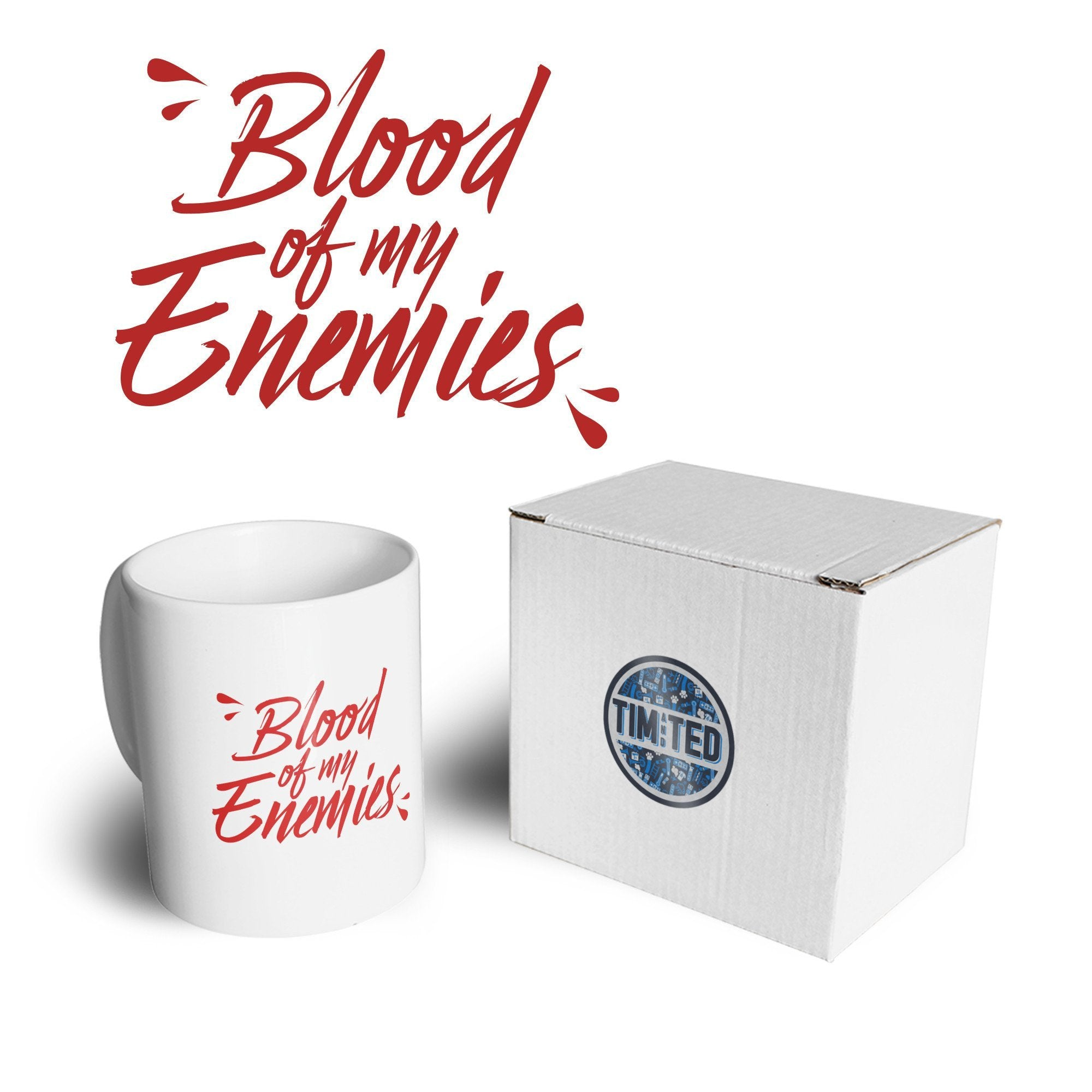 Novelty Mug The Blood Of My Enemies Joke Slogan Coffee Tea Cup