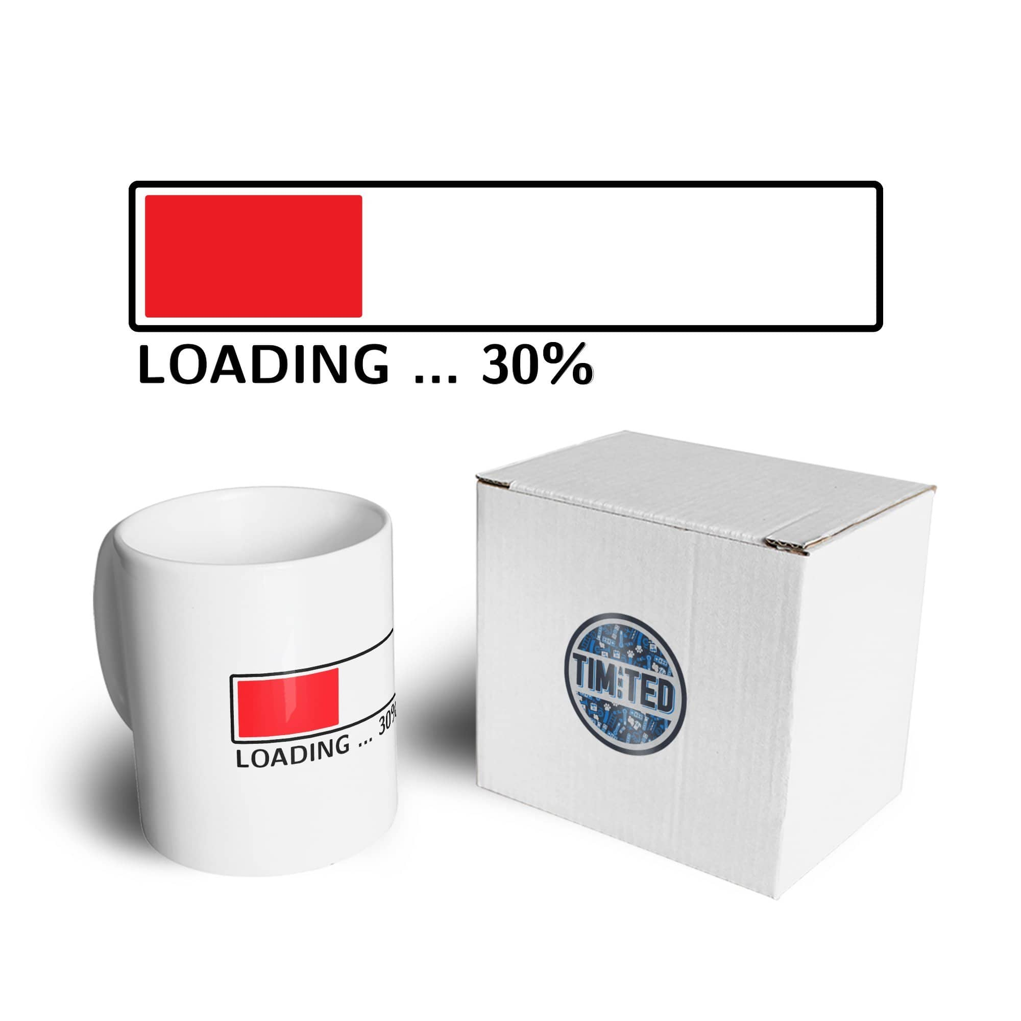 30th Birthday Mug Loading 30% Complete Thirty Coffee Tea Cup