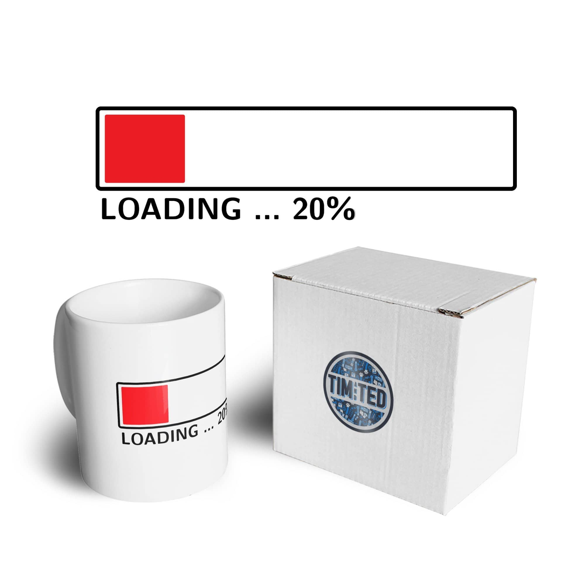20th Birthday Mug Loading 20% Complete Twenty Coffee Tea Cup