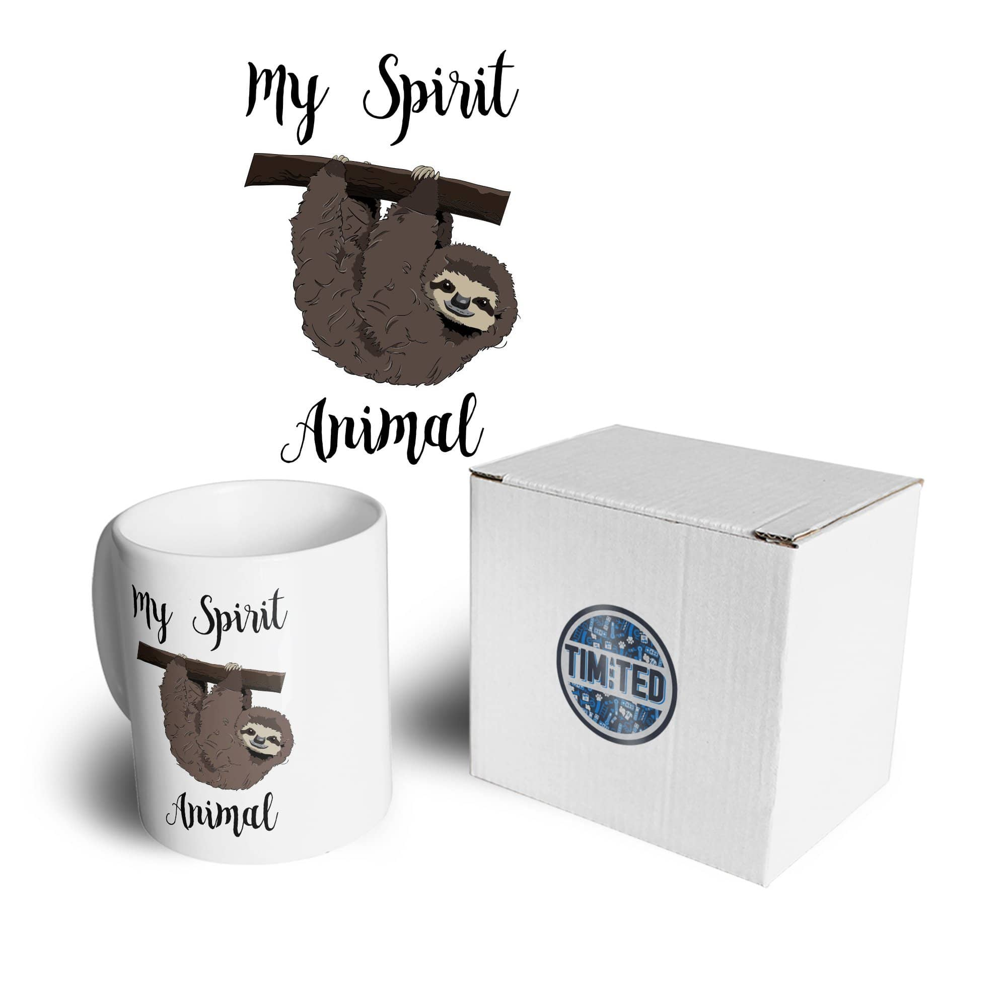 Novelty Lazy Mug My Spirit Animal Is A Sloth Coffee Tea Cup