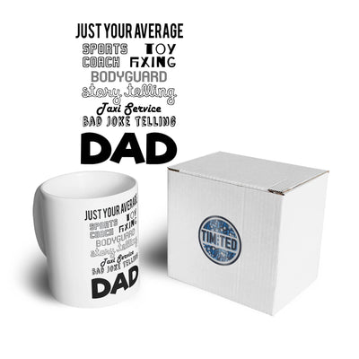 Father's Day Mug Just Your Average Superhero Dad Coffee Tea Cup