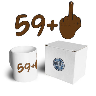 Rude 60th Birthday Mug Black Middle Finger Coffee Tea Cup