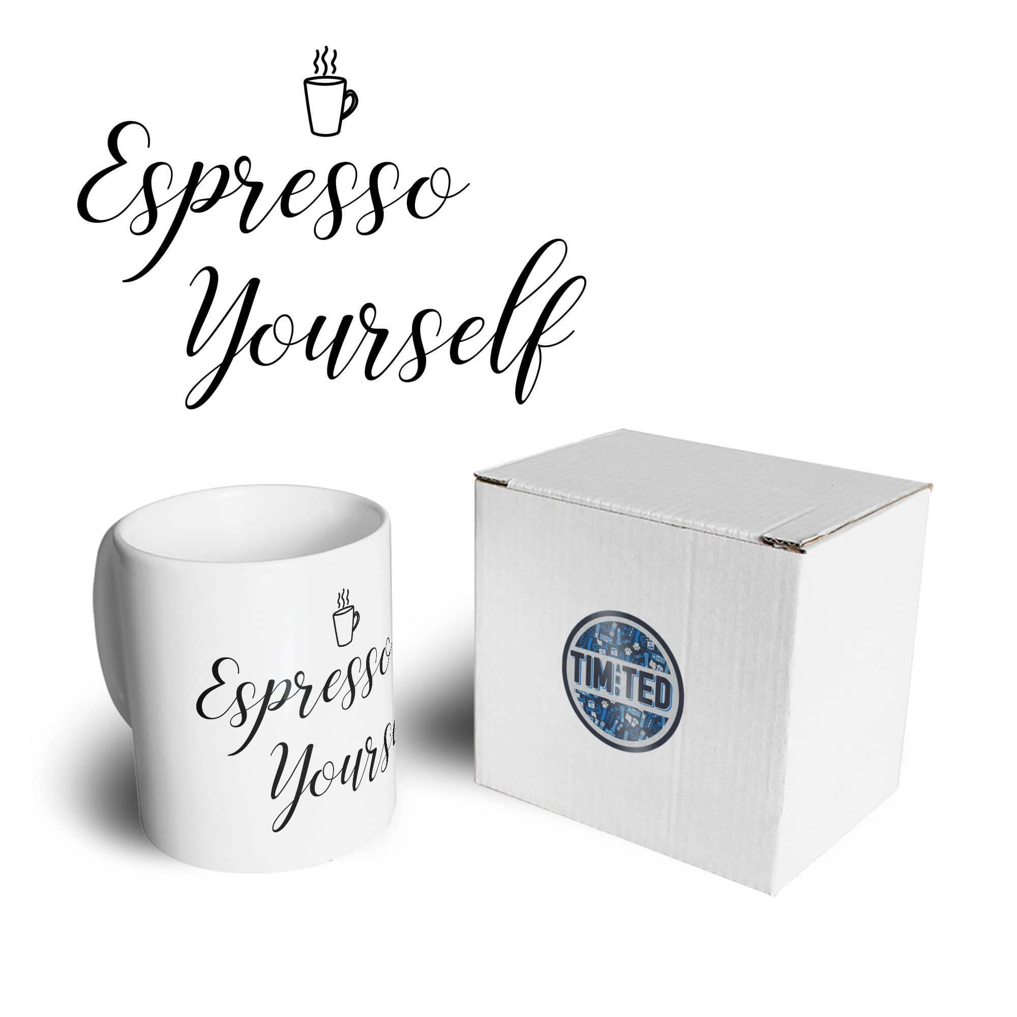 Novelty Coffee Slogan Mug Expresso Yourself Logo Coffee Tea Cup