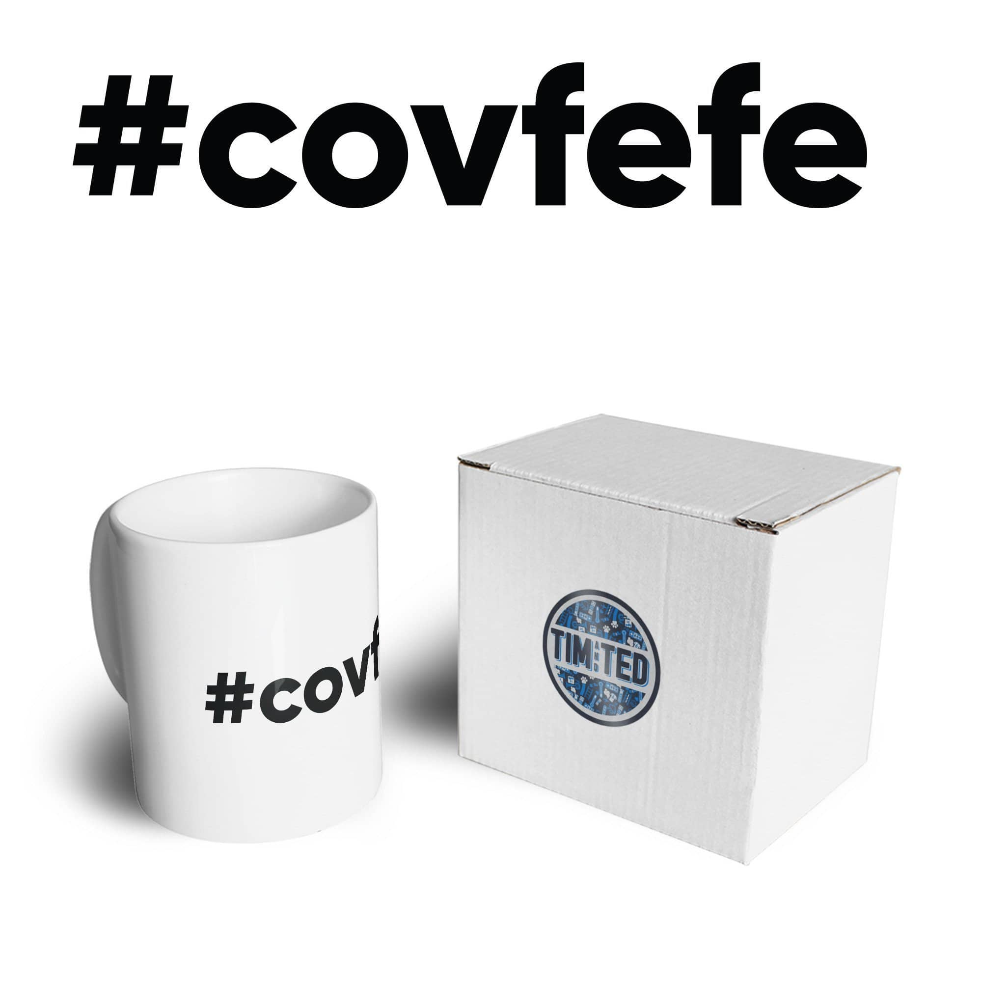 Novelty Donald Trump Mug #covfefe Joke Tweet Meme Coffee Tea Cup