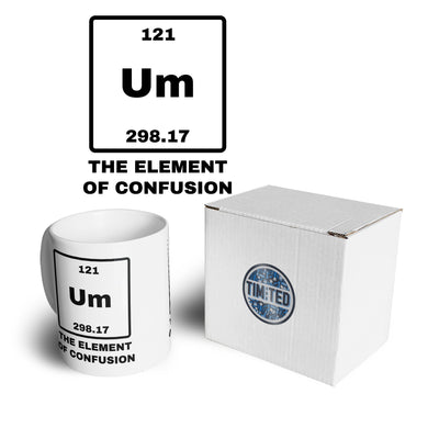 Novelty Science Mug Um The Element Of Confusion Coffee Tea Cup