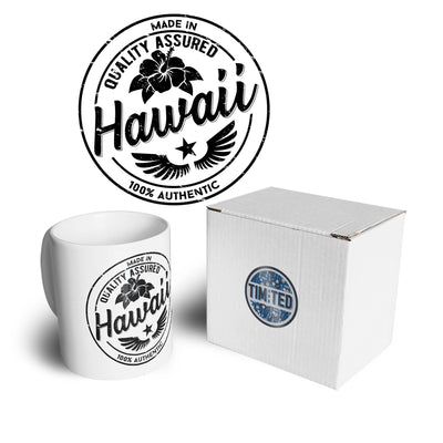Hometown Pride Tea Cup Mug Made in Hawaii Stamp