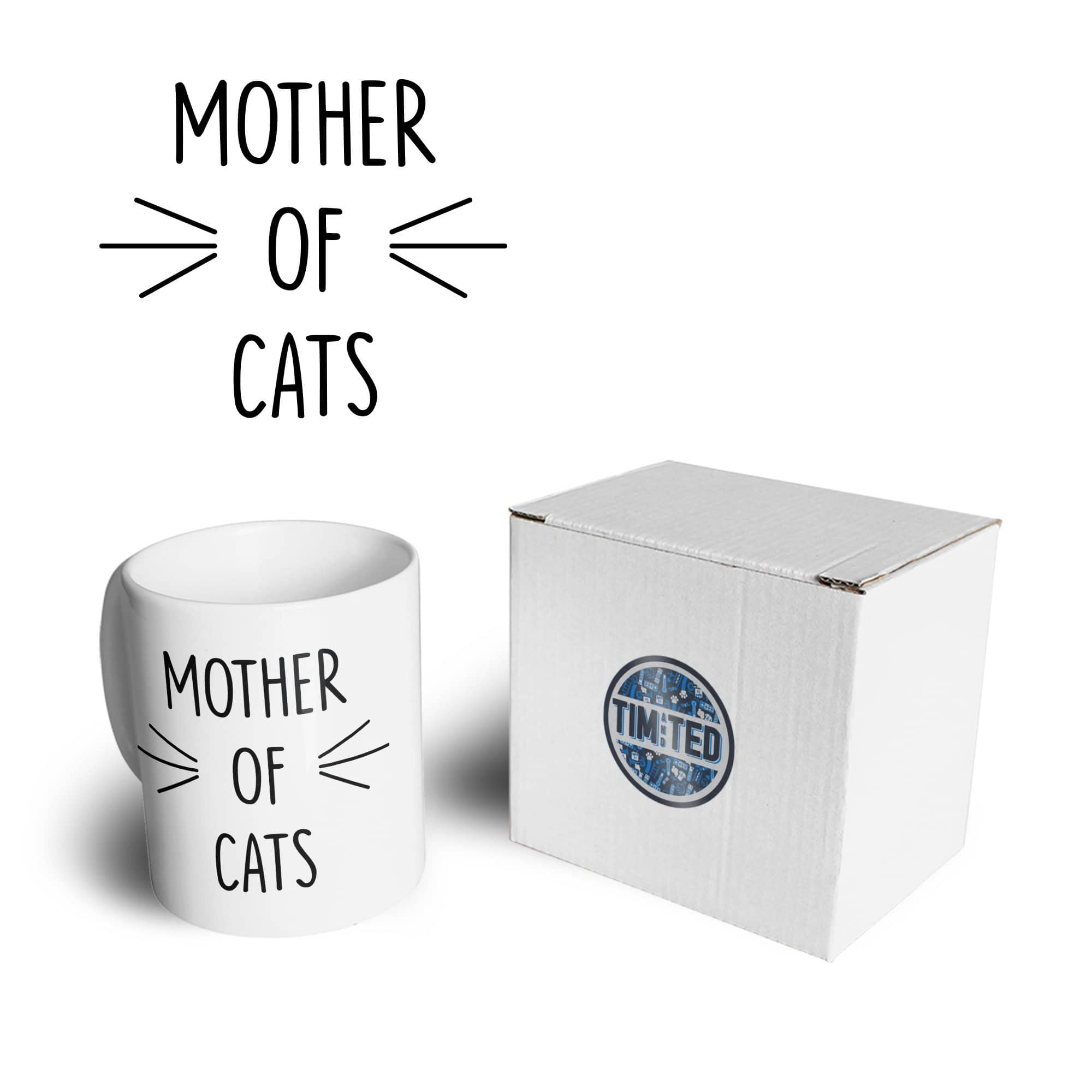 Novelty Pet Mug Mother Of Cats Slogan Coffee Tea Cup