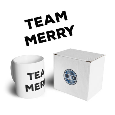 Novelty Xmas Mug Team Merry Christmas Coffee Tea Cup