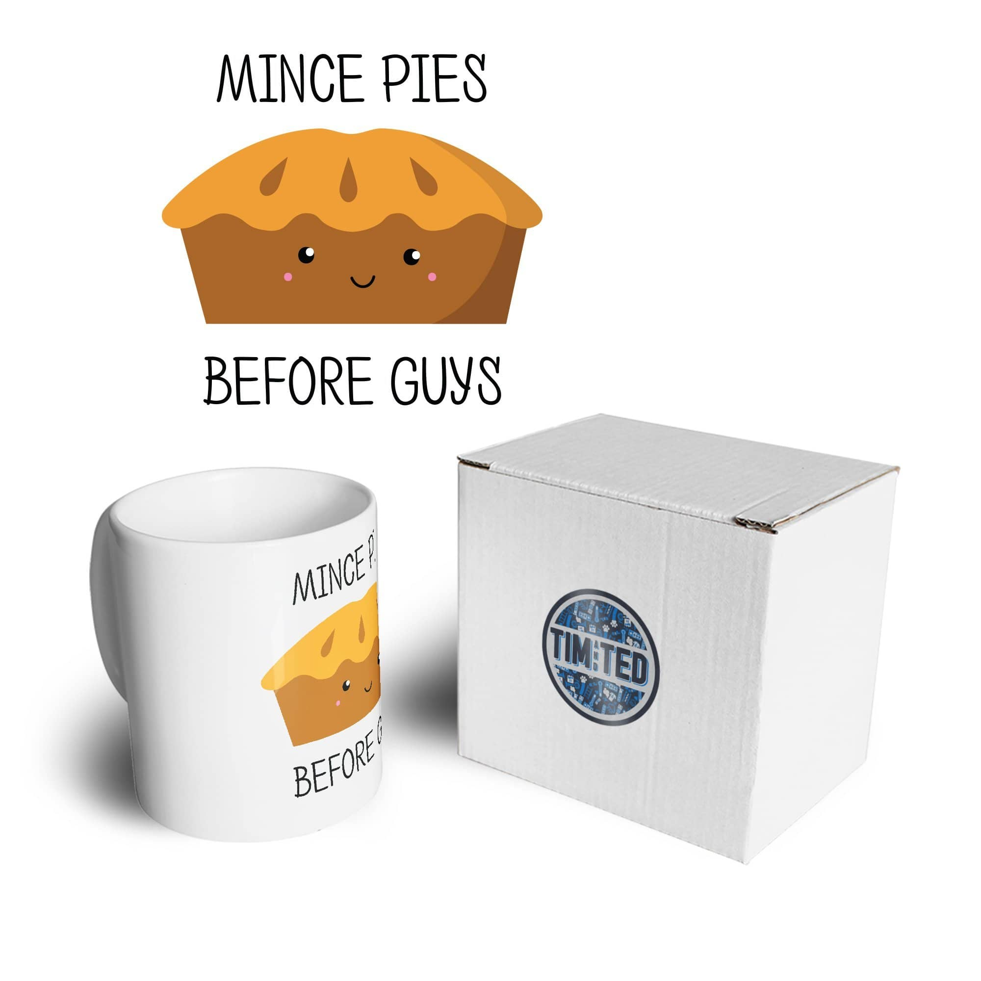 Joke Christmas Mug Mince Pies Before Guys Novelty Coffee Tea Cup