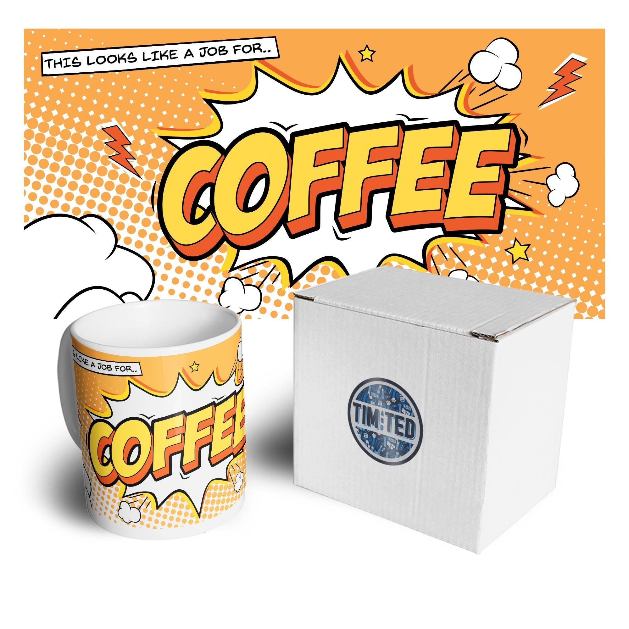 Comic Book Mug Coffee Pop Art Caffeine Design Coffee Tea Cup