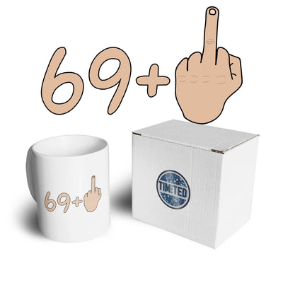 70th Birthday Mug 69 plus 1 gesture Coffee Tea Cup