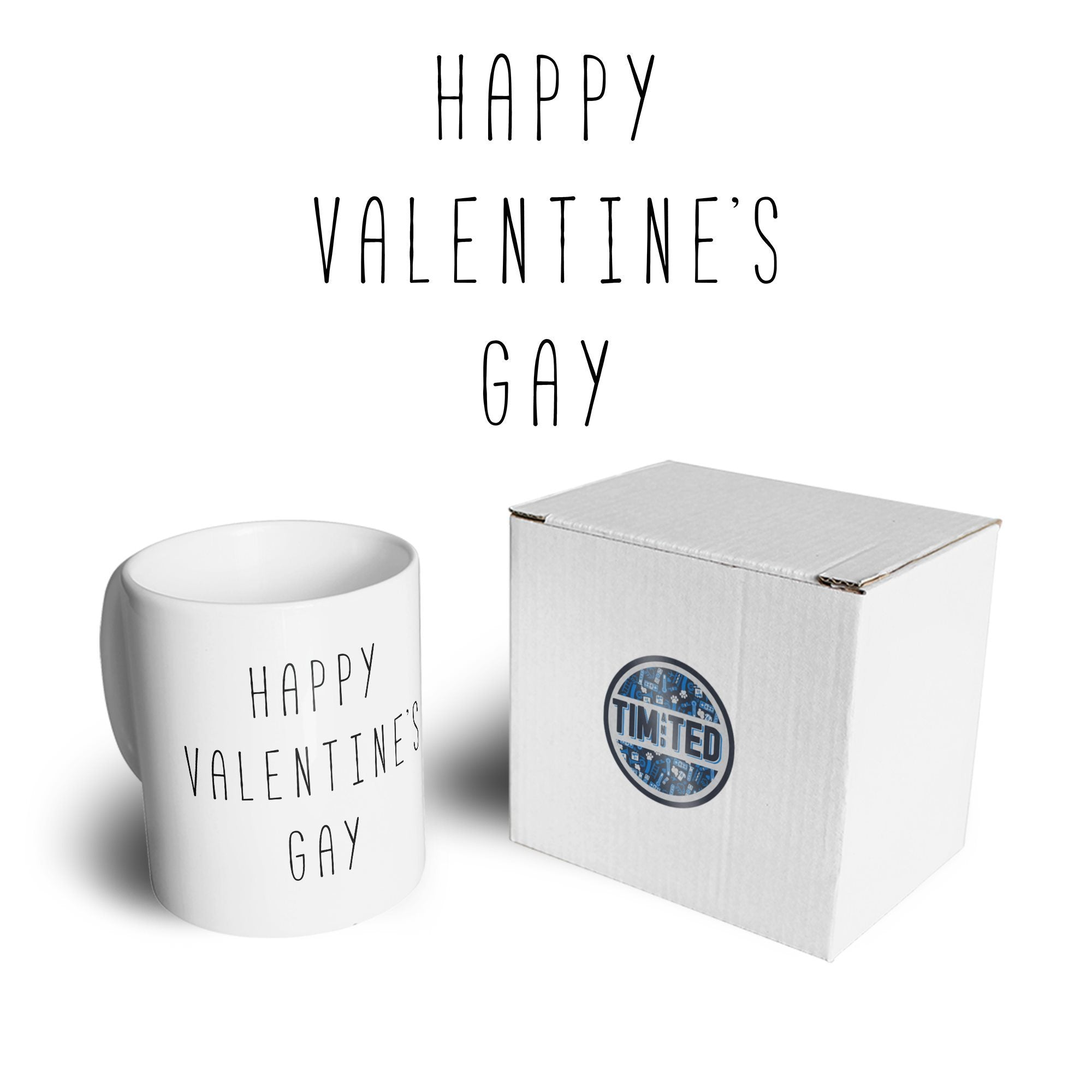 Relationship Tea Cup Mug Happy Valentine's Gay Pun